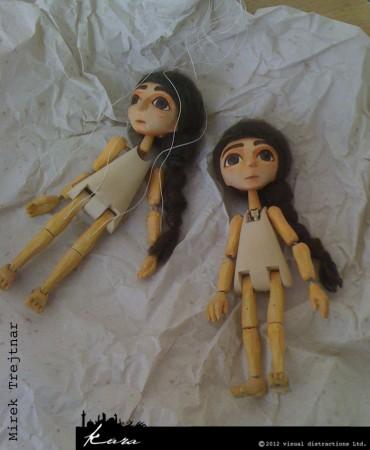 Kara's marionette and stop-motion 'marionette' doubles, Mirek Trejtnar